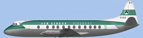 David Carter illustration of Aer Lingus Viscount EI-ALG
