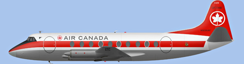 David Carter illustration of Air Canada Viscount CF-THB
