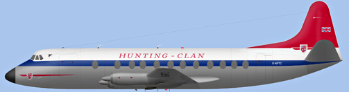 David Carter illustration of Hunting-Clan Air Transport Viscount G-APTC