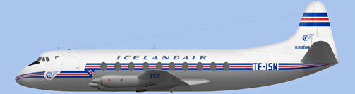 David Carter illustration of Icelandair Viscount TF-ISN