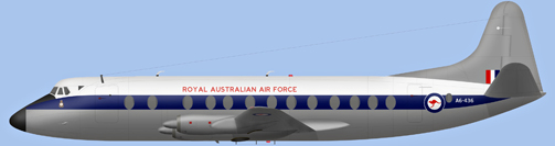 David Carter illustration of Royal Australian Air Force Viscount A6-436