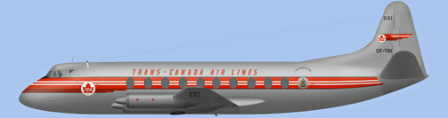 David Carter illustration of Trans-Canada Air Lines Viscount CF-TGI