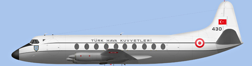 David Carter illustration of Türk Hava Kuvvetleri Viscount 430