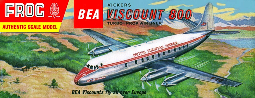 Christian Bryan restoration of the Frog BEA Viscount kit box