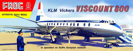 Christian Bryan restoration of the Frog KLM Viscount kit box