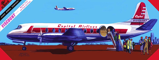 Christian Bryan restoration of the Hawk Capital Airlines Viscount kit box