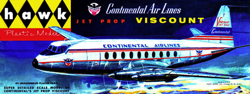 Christian Bryan restoration of the Hawk Continental Airlines Viscount kit box