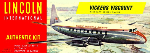 Christian Bryan restoration of the Lincoln BEA Viscount kit box