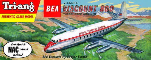 Christian Bryan restoration of the Tri-ang BEA Viscount kit box