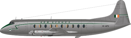 Nick Webb illustration of Aer Lingus Viscount EI-AFV