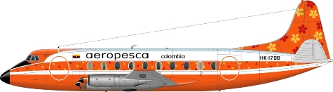 Nick Webb illustration of Aeropesca Viscount HK-1708