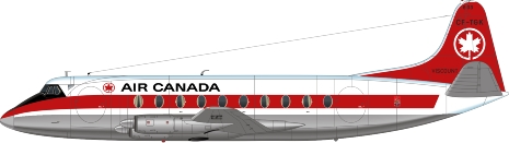 Nick Webb illustration of Air Canada Viscount CF-TGK