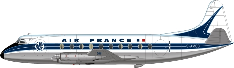 Nick Webb illustration of Air France Viscount G-AMOC