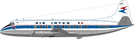 Nick Webb illustration of Air Inter Viscount F-BGNR