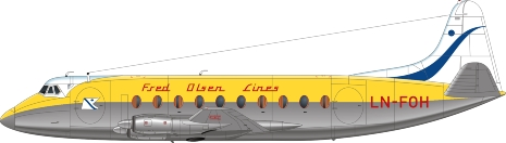 Nick Webb illustration of Fred Olsen Viscount LN-FOH