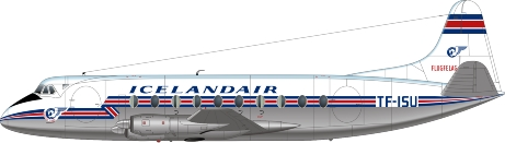Nick Webb illustration of Icelandair Viscount TF-ISU