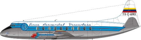Nick Webb illustration of Linea Aeropostal Viscount YV-C-AMX