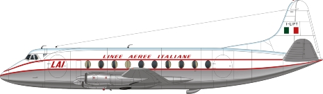 Nick Webb illustration of Linee Aeree Italiane Viscount I-LIFT