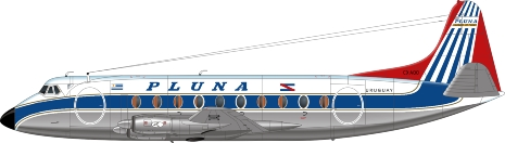 Nick Webb illustration of Pluna Viscount CX-AQO
