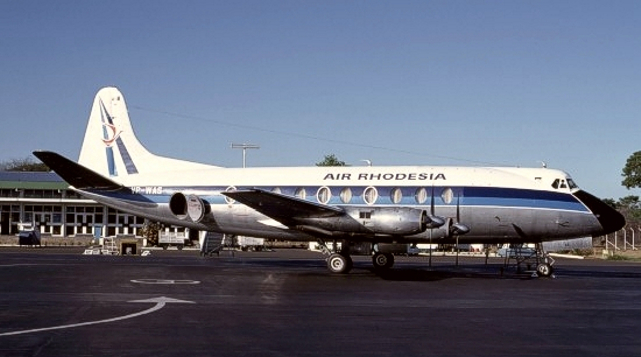Air Rhodesia Viscount c/n 297 VP-WAS in November 1977
