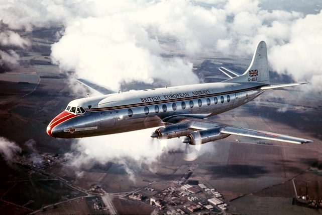 BEA British European Airways Viscount G-AOJC