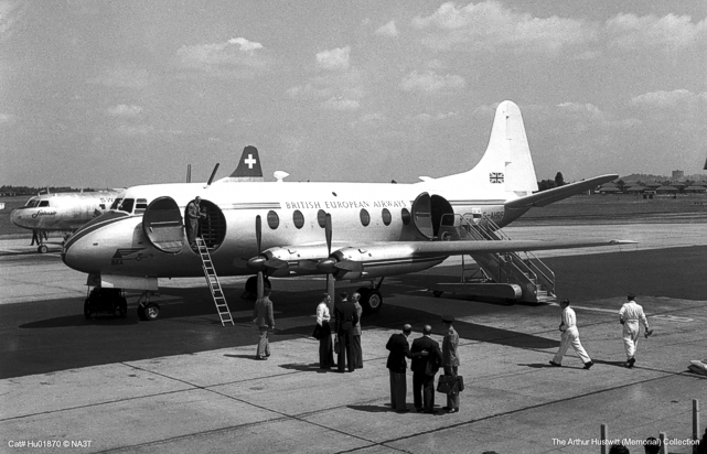 On 29 July 1950 the prototype Viscount operated the world's first turbine-powered airline service