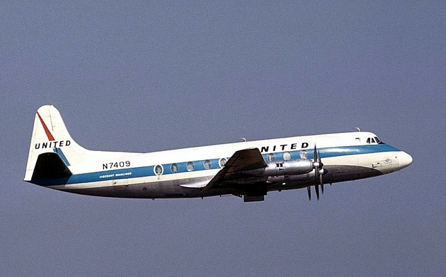 United Airlines Viscount N7409
