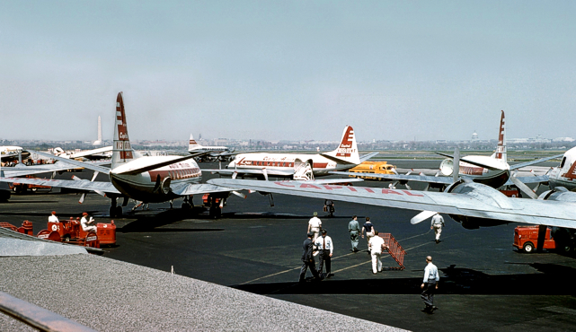 Washington National Airport as Carl would remember it from the 1950s