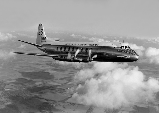 BEA - British European Airways Viscount c/n 3 G-AMAV taken during the London to Christchurch air-race
