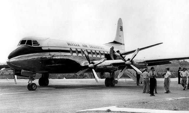 Butler Air Transport Viscount c/n 97 VH-BAT