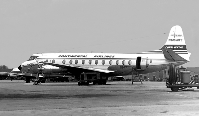 Continental Airlines Viscount c/n 355 N241V