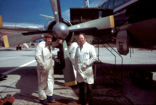 Chris Brown and Dick Chester with Viscount c/n 352 G-AZNC