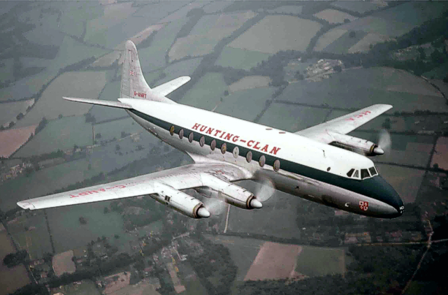 Viscount c/n 76 G-ANRT on a pre-delivery test flight, July 1955