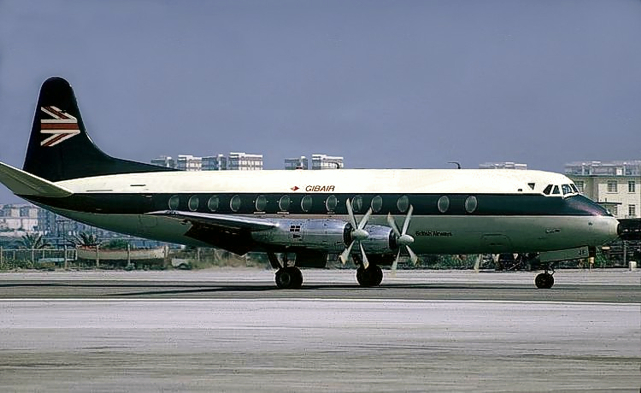 Photo of British Airways (BA) Viscount G-AOJF c/n 155