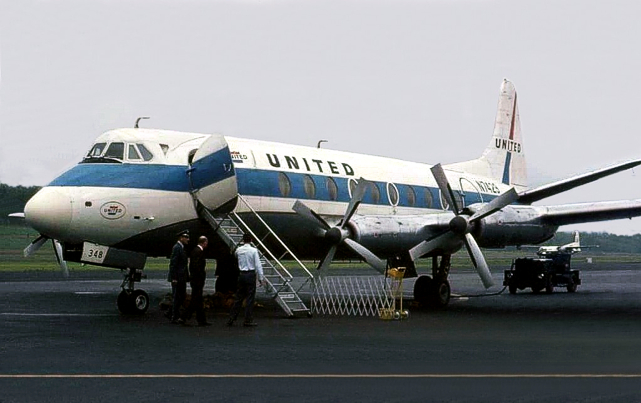 United Airlines Viscount N7429