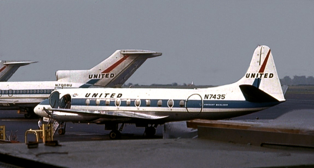 Viscount c/n 133 N7435 of United Airlines
