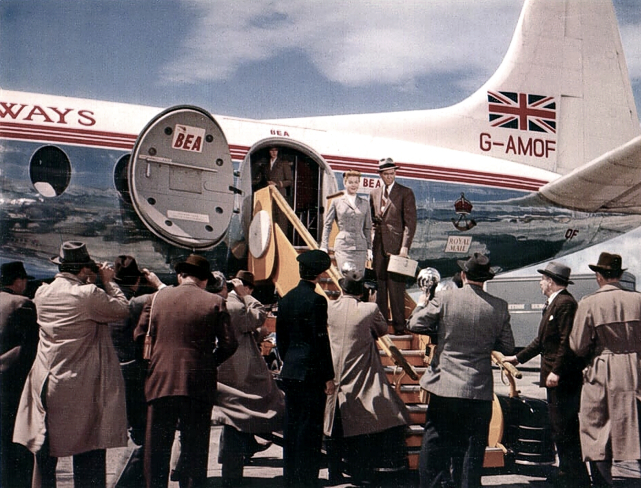 BEA - British European Airways Viscount c/n 19 G-AMOF taken during the filming of 'The man who knew too much'