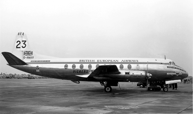 BEA - British European Airways Viscount c/n 3 G-AMAV