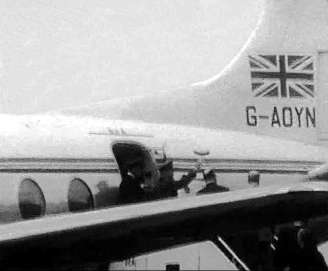 Yuri Gagarin on Viscount c/n 263 G-AOYN