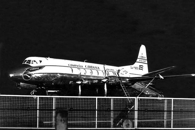 Cubana Viscount c/n 91 CU-T603 was hi-jacked on the 1 November 1958