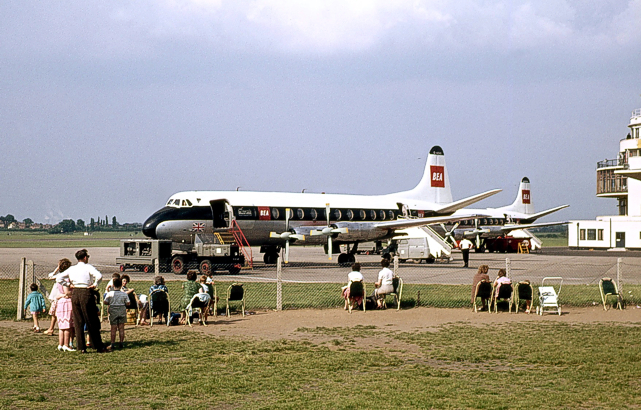 BEA - British European Airways Viscounts at Elmdon