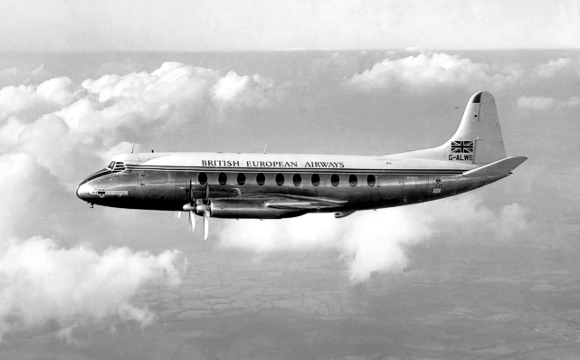 The first BEA Viscount G-ALWE was delivered in January 1953