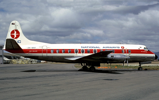 New Zealand National Airways Corporation Viscount c/n 283 ZK-BRF