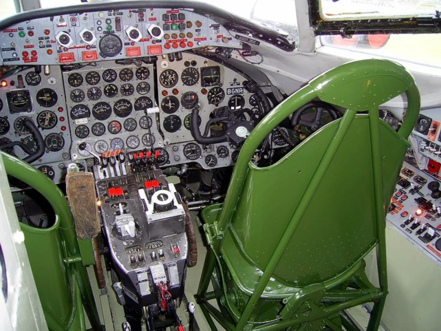 Cockpit of the MAM - Midland Air Museum Viscount c/n 35 F-BGNR