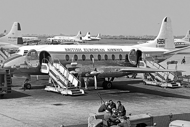 Our 5,000th Viscount photo - G-AMNY at Schiphol, Amsterdam