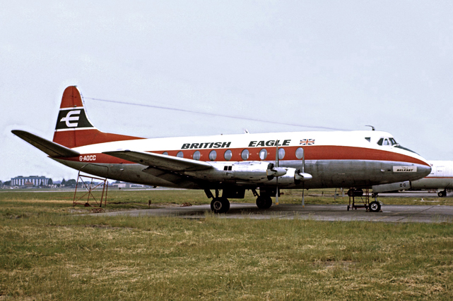 British Eagle International Airlines Viscount G-AOCC.