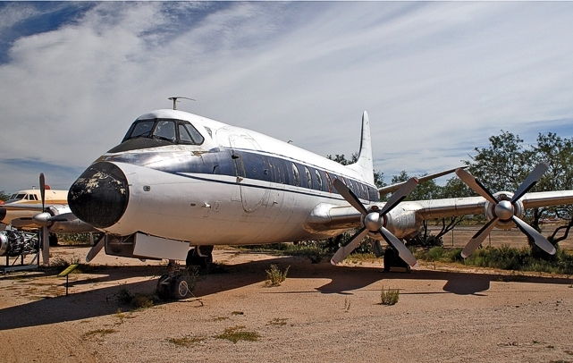 Viscount c/n 40 N22SN  ex. CF-TGI at the Pima Air and Space Museum