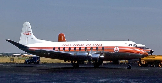 Viscount 757 c/n 310 CF-TIB of Trans-Canada Air Lines
