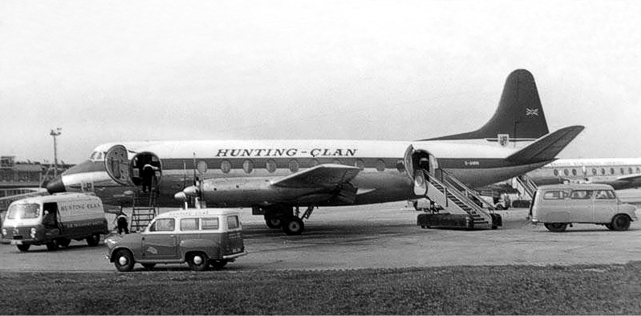 Hunting-Clan Viscount c/n 74 G-ANRR a few months before the accident