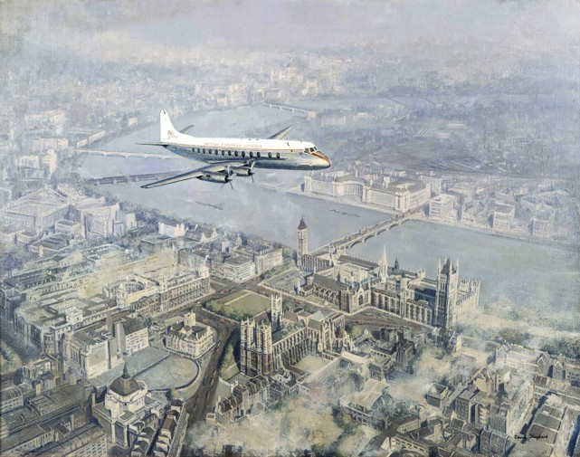 David Shepherd 'Viscount over London' painting